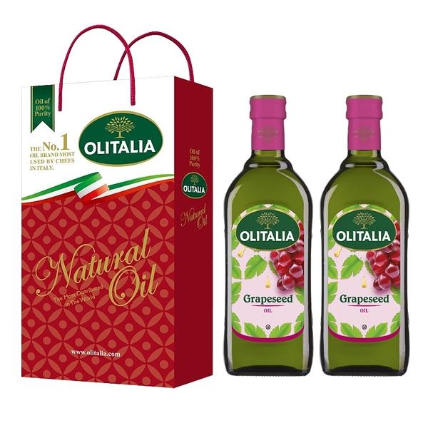 【Olitalia奧利塔】超值葡萄籽油禮盒組(500mlx12瓶)