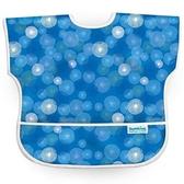 【美國Bumkins】兒童短袖防水圍兜 -藍波紋