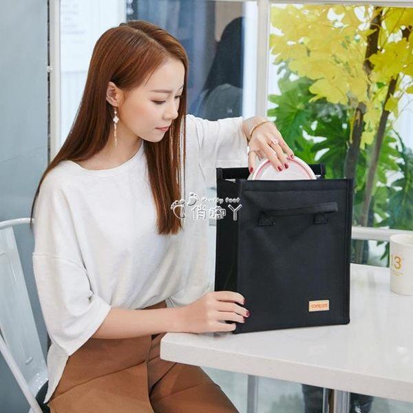 便當袋 加厚帶飯手提包飯盒袋牛津布防水便當包早餐鋁箔保溫袋學生午餐包 俏腳丫
