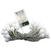 LED圓球燈串/聖誕裝飾彩燈(6米暖色圓球電池款)1入【小三美日】※禁空運