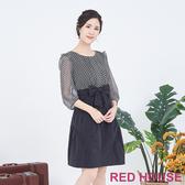 RED HOUSE-蕾赫斯-點點蝴蝶結洋裝(黑色)