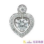 【光彩珠寶】 鉑金鑽石項鍊墜飾  二件式可拆