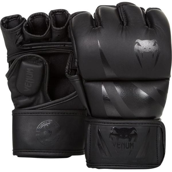 『VENUM旗艦館』S  UFC VENUM搏擊MMA挑戰者號∼康貝入門初級手套∼健身房BODY COMBAT手套-黑