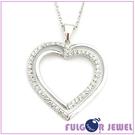流行飾品 雙心造型 鋯石 項鏈【Fulgor Jewel】