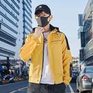 防風外套-連帽字母印花休閒寬鬆男夾克3色73zi21[巴黎精品]