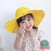 遮陽帽折疊太陽帽兒童空頂帽子沙灘帽【福喜行】