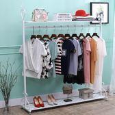 歐式鐵藝衣帽架掛衣架落地臥室簡易衣架家用衣服架收納架     韓小姐的衣櫥の衣櫥