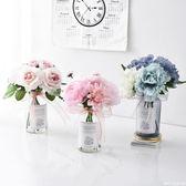 仿真花擺件小清新假花盆栽北歐家居客廳花束裝飾塑料花餐桌花擺設  糖糖日系森女屋