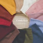 MUMU【T18207】日銷百件!秋冬基本款多色圓領寬鬆針織毛衣。21色