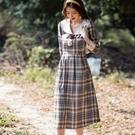 青春經典格紋過膝正式洋裝連身裙[99137-QF]美之札