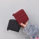 熱賣2021韓版簡約格子迷你小錢包女拉鍊錢夾可愛零錢包學生短款卡包【618 狂歡】