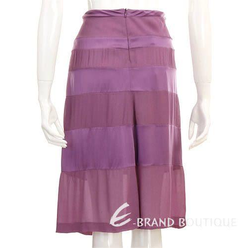 ALBERTA FERRETTI 紫色皺褶及膝裙 0510617-04