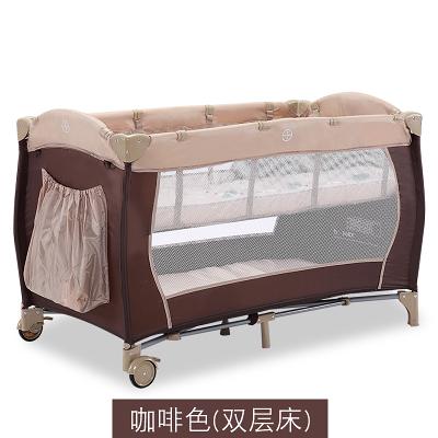 歐式便攜式嬰兒床 多功能可折疊游戲床新生兒折疊床旅行床BB寶寶床  快速出貨