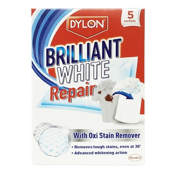英國 Dylon 衣物亮白去汙清潔劑 每盒5包入 (Brilliant White Repair)