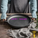 烙餅不粘鍋加厚鑄鐵無涂層工具平底鍋生鐵家用【雲木雜貨】