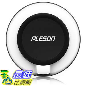 [美國直購] PLESON PLS-WR-C180-B Qi Charging Pad Charger for Samsung Galaxy S7 充電座