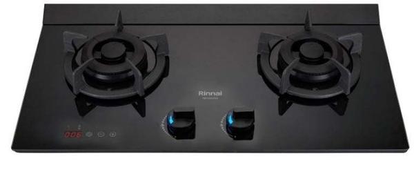(全省原廠安裝) 林內檯面爐 RB-M2620G(B) 極炎二口爐(小本體+雙口定時+藍光旋鈕)