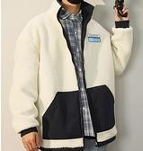 羊羔絨立領外套男秋冬季好潮流ins韓版寬鬆棉衣雙面穿加厚棉服