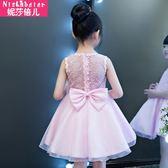 女童連衣裙2018新款夏季小女孩裙子兒童公主蓬蓬裙正韓中大童夏裝洋裝禮物限時八九折