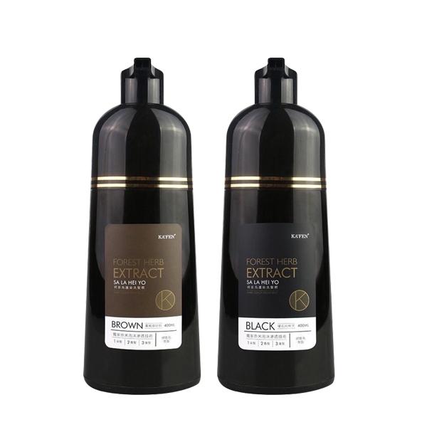 KAFEN 卡氛 何首烏染護洗髮精 400ml 黑色/咖啡 顏色可選 洗護染三合一【YES 美妝】