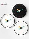 創意簡約家用掛鐘藝術個性掛墻時鐘靜音輕奢風免打孔鐘錶客廳時尚 童趣屋 LX