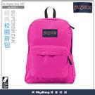 JANSPORT 後背包 43501-0R4 亮粉紅  經典校園背包  MyBag得意時袋