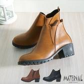 短靴 側V鬆緊剪裁短靴 MA女鞋 T1852