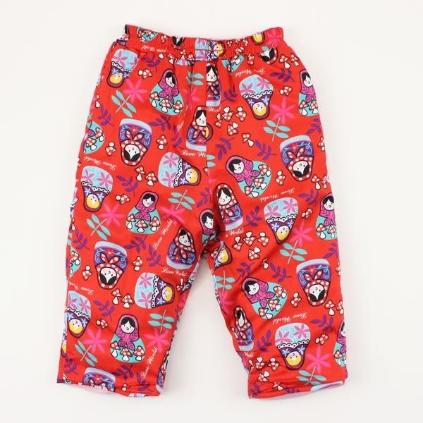 【愛的世界】兩面穿鋪棉長褲/6M~4歲-台灣製- ★秋冬下著