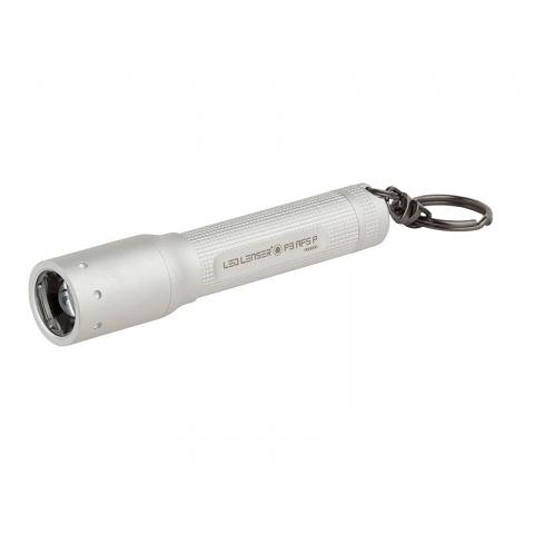 丹大戶外【LED LENSER】德國 鑰匙圈系列 P3 AFSP 伸縮調焦手電筒 75流明 銀 1022