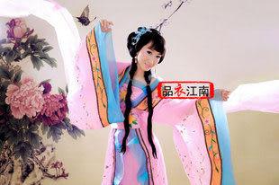 粉色唐朝貴妃公主拖尾古裝
