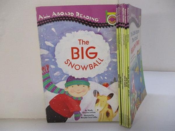 【書寶二手書T1/語言學習_KCQ】All Aboard Reading-The Big Snowball_Silly Wiliy等_7本合售