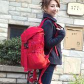 韓版帆布登山雙肩包女大容量男 書包旅行包igo  歐韓流行館