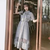 森女系洋裝 仙氣長裙腳踝森女系學生裙仙女裙子超仙森系法式連身裙設計感 -Ballet朵朵