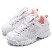Fila 鋸齒鞋 Disruptor 2 白 粉紅 老爹鞋 韓妞必備 女鞋 復古運動鞋【ACS】 4C113T115