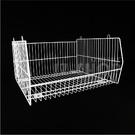 2尺疊籃 疊籠 斜口收納籃 鐵網籃 置物籃架 貨架 超市賣場-運費另計