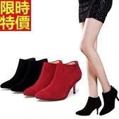 短靴 高跟女靴子-熱銷焦點優質隨性休閒2色66c5[巴黎精品]