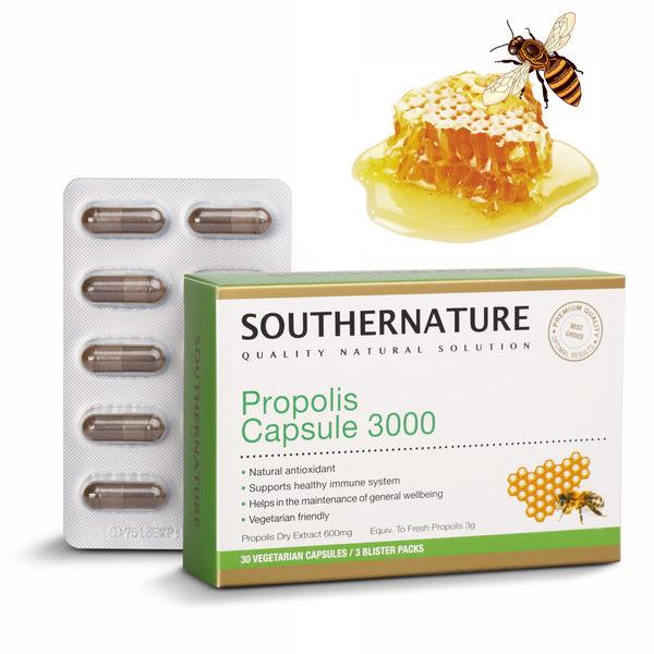蜂膠植物膠囊 3000 (30顆/瓶) SOUTHERNATURE澳綠康倍