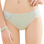 思薇爾-竹蜻蜓輕甜風系列M-XL素面低腰三角內褲(羽絨藍)