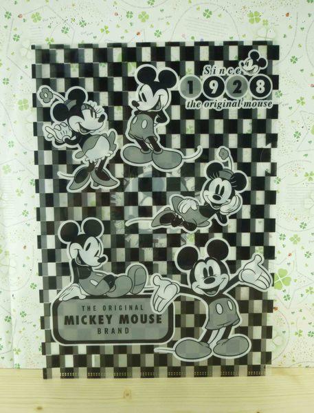 【震撼精品百貨】Micky Mouse_米奇/米妮 ~l型文件夾-黑白格