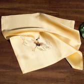 真絲蘇繡手帕手工刺繡花仙鶴雙層手絹