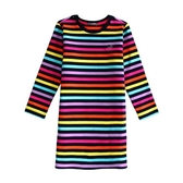 『小鱷魚童裝』彩條洋裝(02號~10號)536381