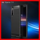 拉絲碳纖維紋索尼SONY Xperia 10 1 5 II XA1 XA2 PLUS Ultra手機殼 保護殼防摔軟殼