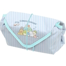 San-X 角落生物 方形保溫包巾 野餐飯糰 藍_XS77910