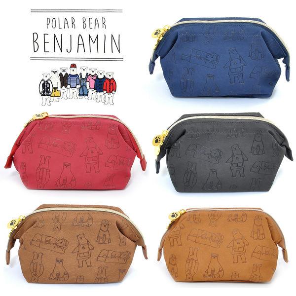 [MIJ] 日本北極熊班傑明 壓紋化妝包 5色可選 anello子品牌 POLAR BEAR BENJAMIN