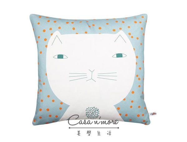 Donna Wilson 精明貓抱枕 Cleo Cushion藍