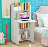 學習桌 簡約現代折疊電腦桌可行動書架家用學生兒童小書桌寫字臺書櫃組合JDJD