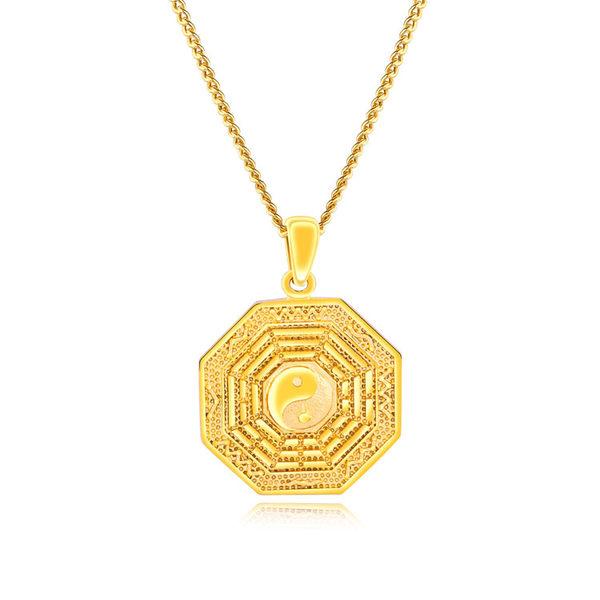 【5折超值價】經典流行太極八卦造型銅鍍項鍊
