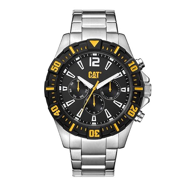 【CAT Watch】STEER時尚三眼鋼帶腕錶-質感銀/PX.149.11.131/台灣總代理公司貨享兩年保固