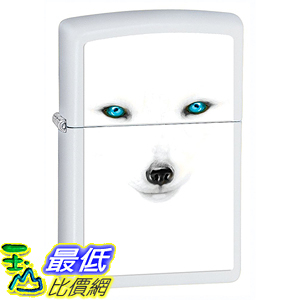 [美國直購] Zippo B0074G48MY Animal Lighters White Matte Artic Fox 打火機