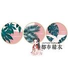 圓形裝飾畫 裝飾畫客廳現代簡約小尺寸玄關圓形實木組合植物臥室沙發背景牆畫T